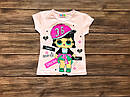 Детская футболка кукла ЛОЛ для девочки на 1-8 лет, фото 2