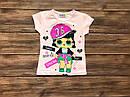 Дитяча футболка лялька ЛОЛ для дівчинки на 1-8 років, фото 2