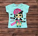 Детская футболка кукла ЛОЛ для девочки на 1-8 лет, фото 4