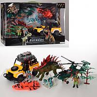 """Игровой набор спасателей """"Ловцы динозавров"""" F124-79 вертолет, джип, лодка динозавр 2шт,фигурки,в кор"""