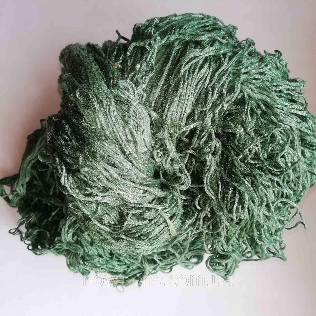 Нитки  Мулине Цвет зеленый с сероватым оттенком упаковка 240 грамм