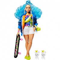 Кукла Барби Экстра Модница со скейтбордом Barbie Extra Doll # 4 with Skateboard & 2 Pet Kittens