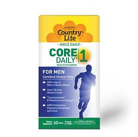 Витамины и минералы Country Life Core Daily-1 Multivitamins Men, 60 таблеток