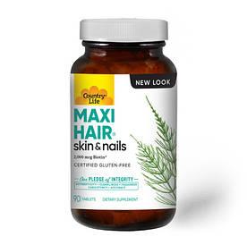 Витамины и минералы Country Life Maxi-Hair, 90 таблеток
