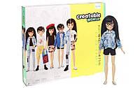 Кукла Создаваемый мир Creatable World Deluxe Character Kit Customizable Doll original черные волосы