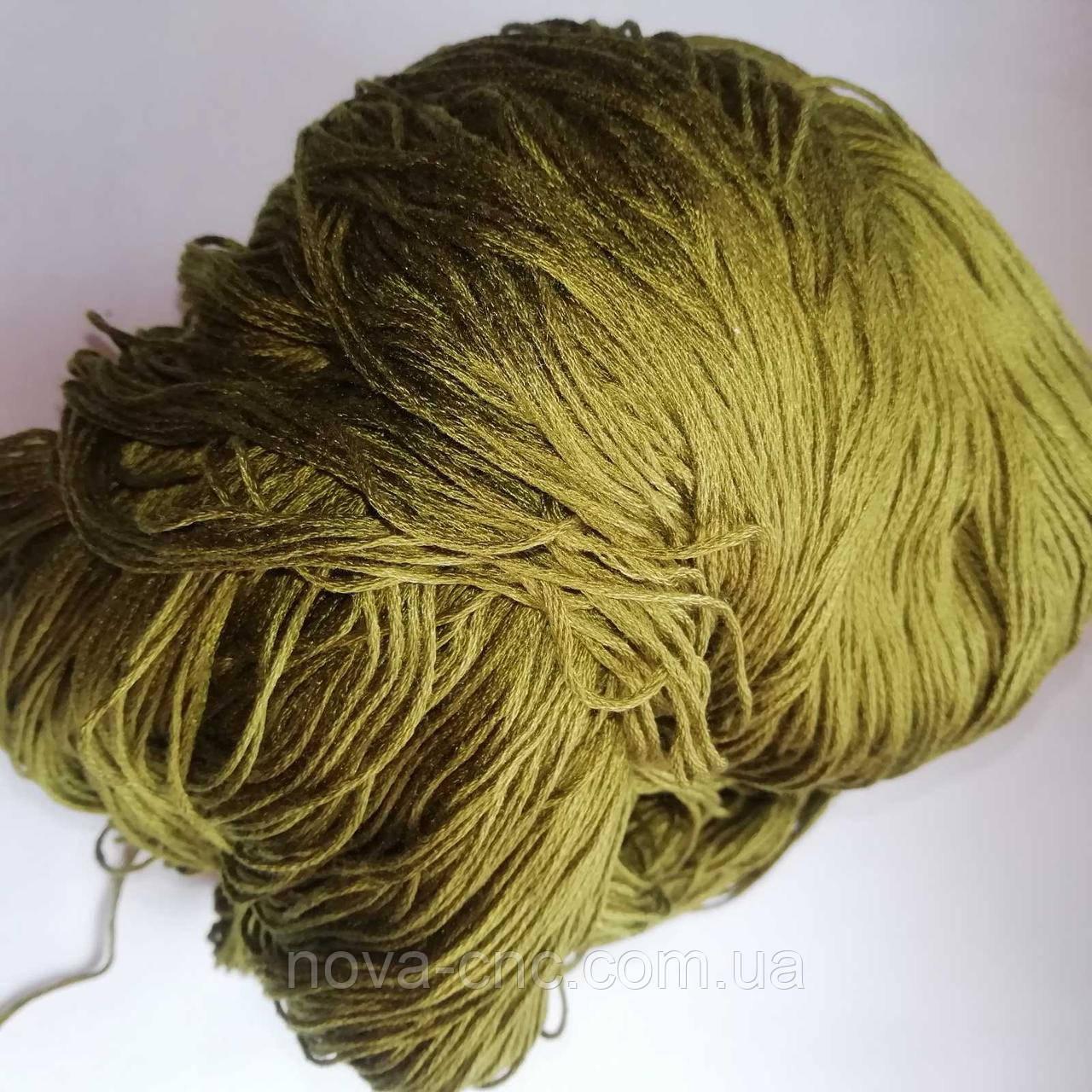 Нитки  Мулине Цвет  хаки упаковка 250 грамм