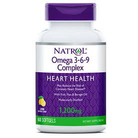 Жирные кислоты Natrol Omega 3-6-9 Complex, 60 капсул
