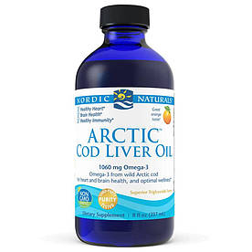 Жирные кислоты Nordic Naturals Arctic Cod Liver Oil, 237 мл Апельсин