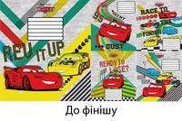 """Тетрадь 12 листов клетка Disney, Leader """"К финишу"""""""