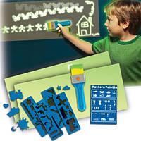 Палитра узоров GLOW MAGIC Набор для рисования Рисуй светом в наборе клейкие листы и трафареты