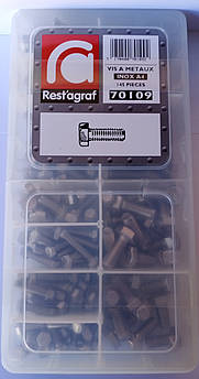 Набор болтов с нержавеющей стали DIN 933 А4-70 Шестигранная головка (70109)
