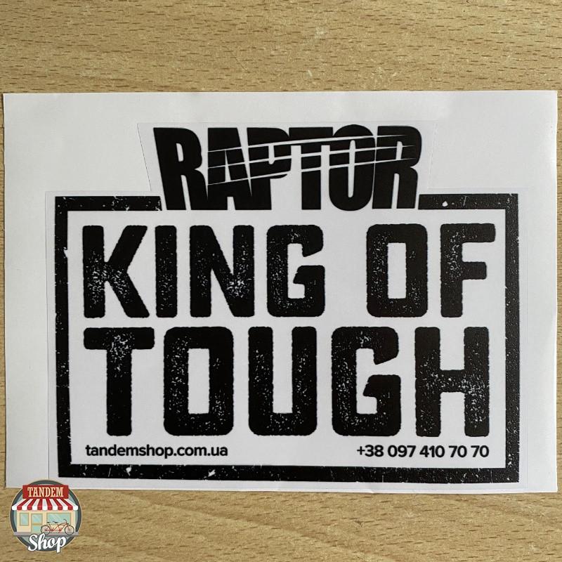 Наклейка на стекло «RAPTOR: Король Прочности», 150 мм x 115 мм Черная