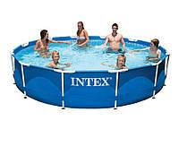 Intex 28210, каркасный бассейн 366 x 76 см Metal Frame Pool