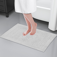 Ванний білий килимок для готелів