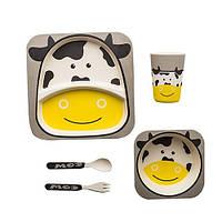 Детская бамбуковая посуда Bamboo Kids Set - Корова