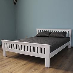 Ліжко дерев'яне двоспальне Жасмін (масив бука)