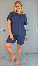 Женская пижама большой размер Este хлопковая.