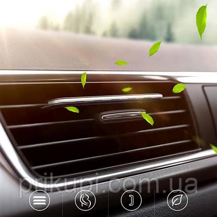 Освежитель воздуха в автомобиль (ароматизатор в машину) Baseus silver + 6 сменных картриджей, фото 2