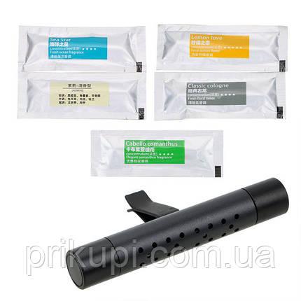 Освіжувач повітря в автомобіль (ароматизатор в машину) ZSS + 5 змінних картриджів Black, фото 2
