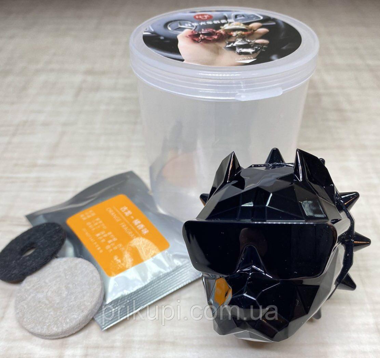 Освежитель воздуха в автомобиль (ароматизатор в машину) Pitbull +1 картридж + многоразовый (1шт.) Черный