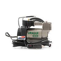 Автомобильный компрессор с автостопом URAGAN 90135, автокомпрессор с манометром