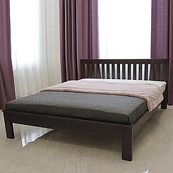 Кровать деревянная полуторная Жасмин с низким изножьем (массив бука)