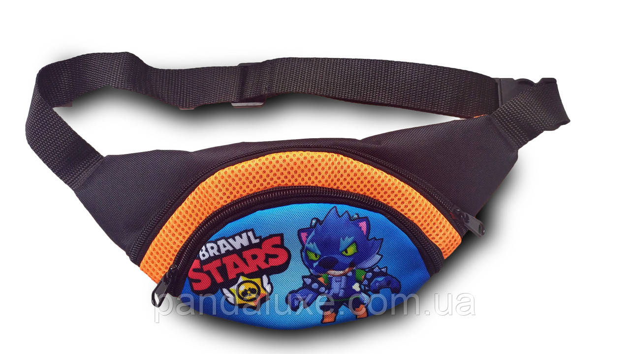Поясная сумка детская бананка через плечо барыжка на пояс Brawl Stars Бравл Старс