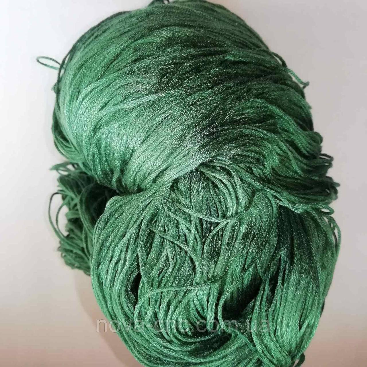 Нитки  Мулине Цвет зеленый упаковка 248г.