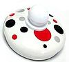 Эмалированный чайник с подвижной ручкой Benson BN-124 белый в горошек (1,5 л)   чайник Бенсон, Бэнсон, фото 4