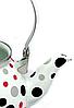 Эмалированный чайник с подвижной ручкой Benson BN-124 белый в горошек (1,5 л)   чайник Бенсон, Бэнсон, фото 7