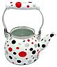 Эмалированный чайник с подвижной ручкой Benson BN-124 белый в горошек (1,5 л)   чайник Бенсон, Бэнсон, фото 8