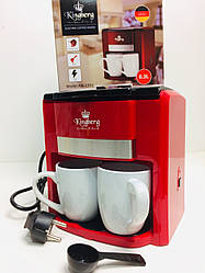 Кавоварка електрична Benson BN KB-1991 + 2 чашки 750 Вт, автовимкнення | кавова машина з двома чашками Бенсон