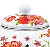 Емальований чайник з рухомою ручкою Benson BN-110 білий з червоним (2,5 л) | чайник Бенсон, Бэнсон, фото 4