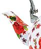 Емальований чайник з рухомою ручкою Benson BN-110 білий з червоним (2,5 л) | чайник Бенсон, Бэнсон, фото 5