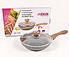 Сковорода Benson BN-542 (24 см) з кришкою, антипригарне гранітне покриття   сковорідка Бенсон, Бэнсон, фото 3