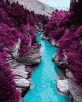 Картины по номерам 40×50 см Babylon Река Шотовер Новая Зеландия (VP 1365)