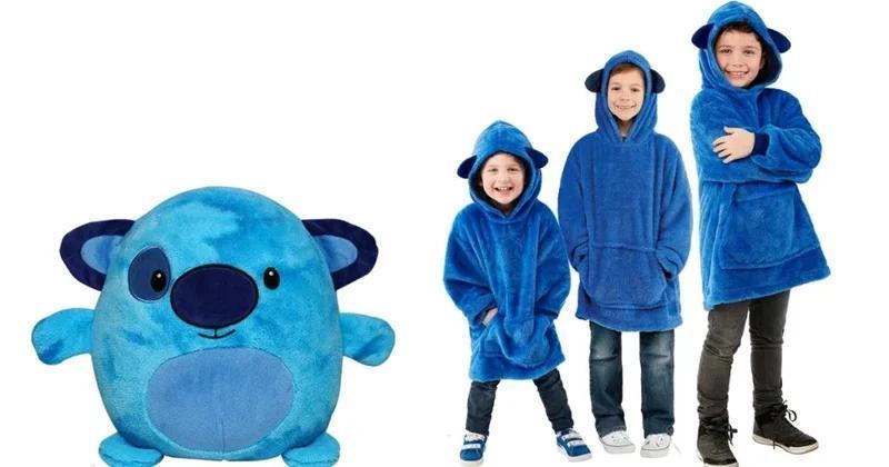 """Мягкая игрушка трансформер - худи с капюшоном """"Huggle Pets"""" синее"""