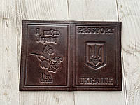 Шкіряна обкладинка для ID паспорту, фото 1