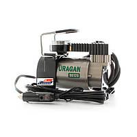 Автомобильный компрессор URAGAN 90120, автокомпрессор с манометром