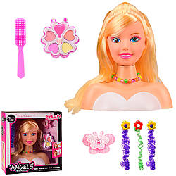 Детский манекен для причесок кукла, с прядями волос