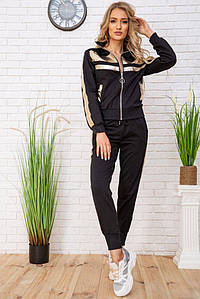 Спорт костюм дружин 167R301 колір Чорно-золотистий