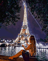 Картины по номерам 40×50 см Babylon Ночь в Париже (VP 1381)