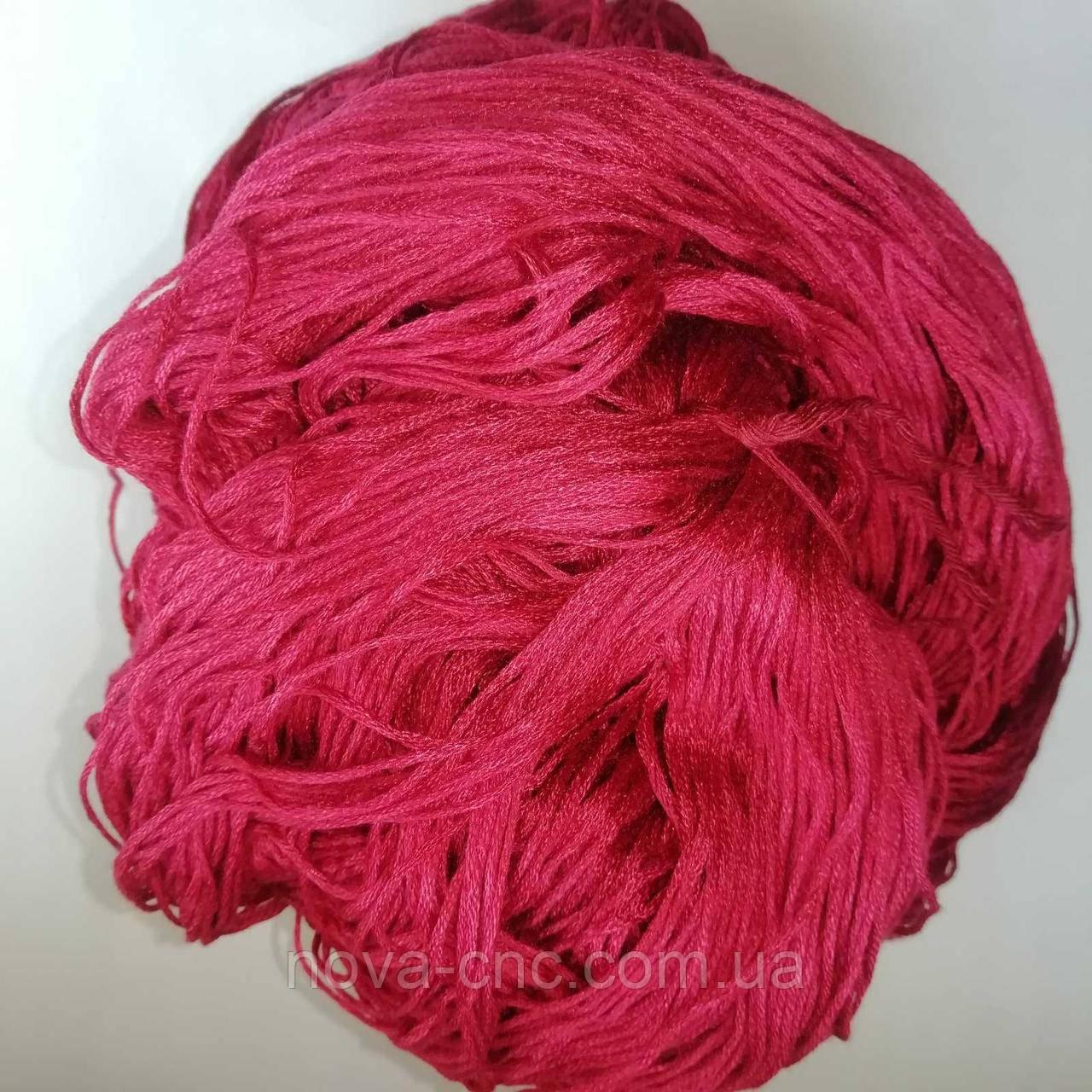 Нитки  Мулине Цвет вишневый упаковка 255г.