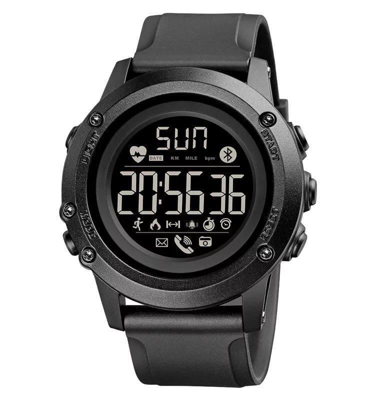 Годинник з пульсоміром SKMEI 1671 (Black)