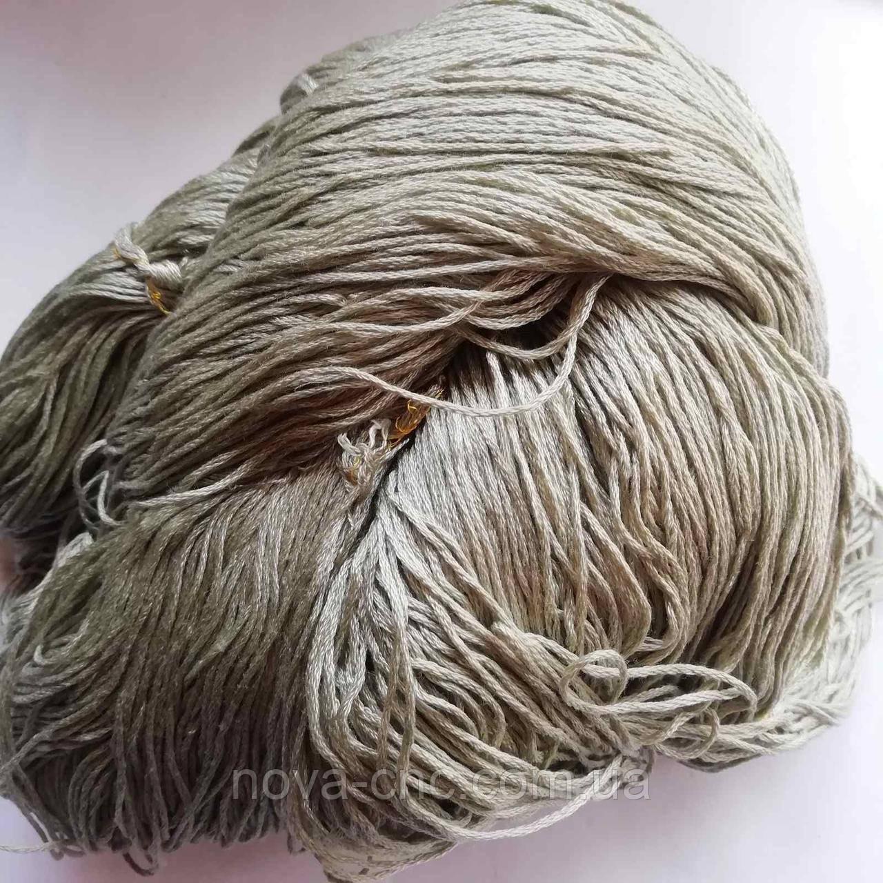 Нитки  Мулине Цвет оливковый упаковка 255г.