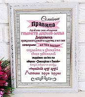 Постер Семейные правила / Постер Сімейні правила.