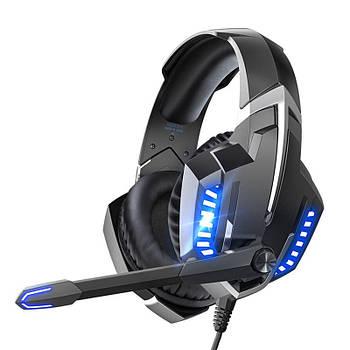 Проводная гарнитура ONIKUMA K18 Black + Blue наушники с микрофоном 1+2/3.5мм + USB