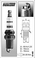 Свеча зажигания BRISK Iridium Premium + P22