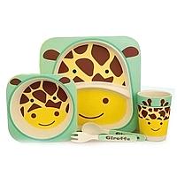 Детская бамбуковая посуда Bamboo Kids Set - Леопард