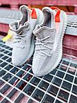 Женские кроссовки Adidas Yeezy Boost 350 V2 Tail Light (серые) К2770 качественные крутые обувь, фото 6